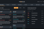 TOGGLE screenshot: TOGGLE portfolio dashboard