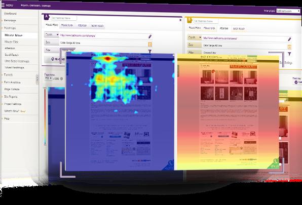 Compare heatmaps in ClickTale