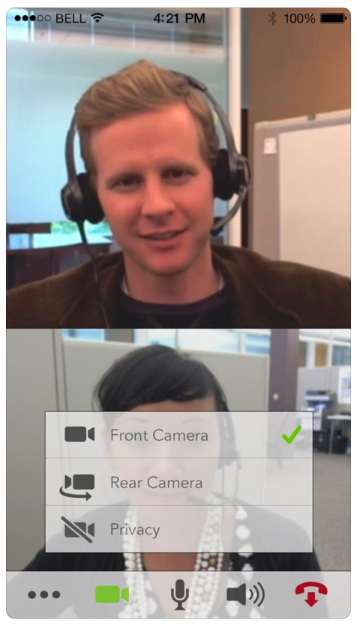 VidyoConnect screenshot: VidyoConnect audio/video calls screenshot