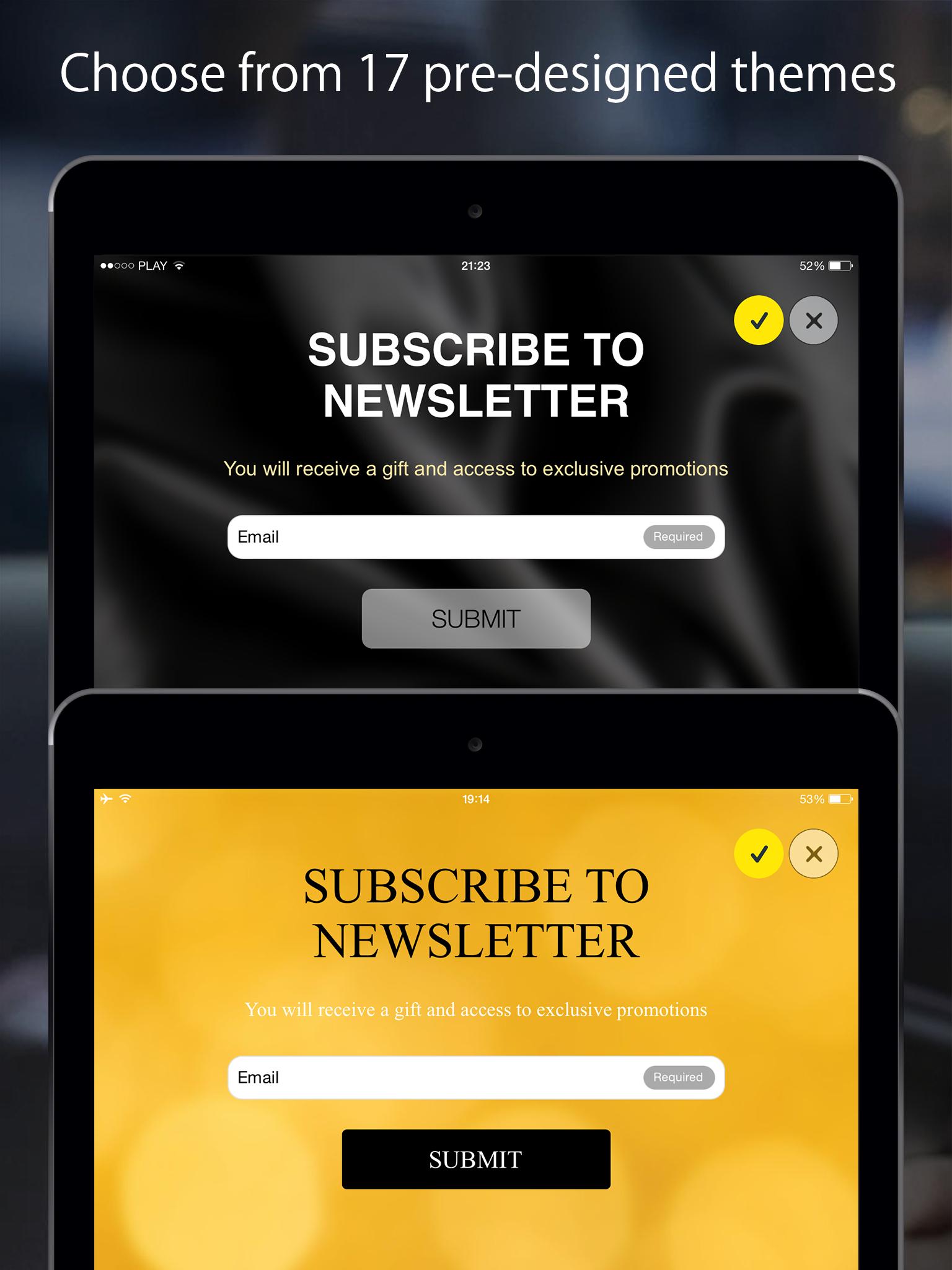 FreshForm - our mobile application for tablets