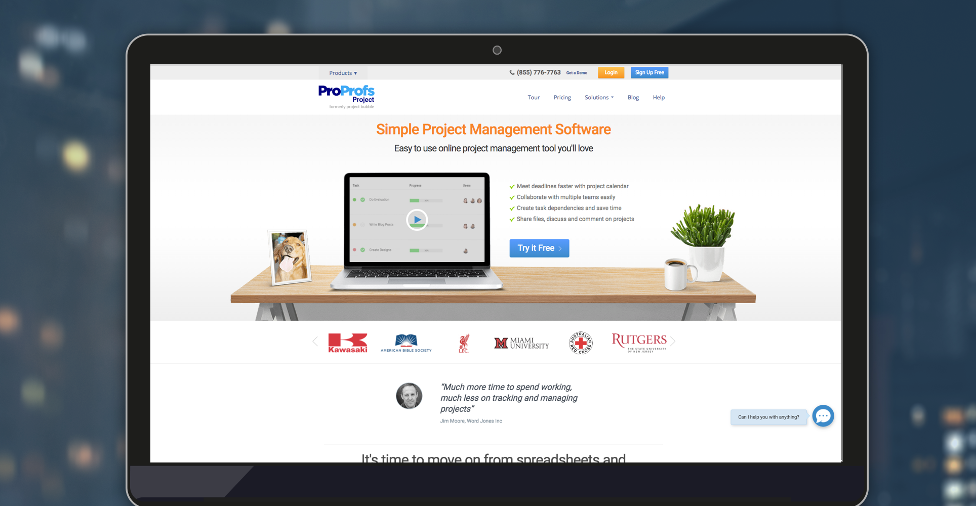 ProProfs Project screenshot