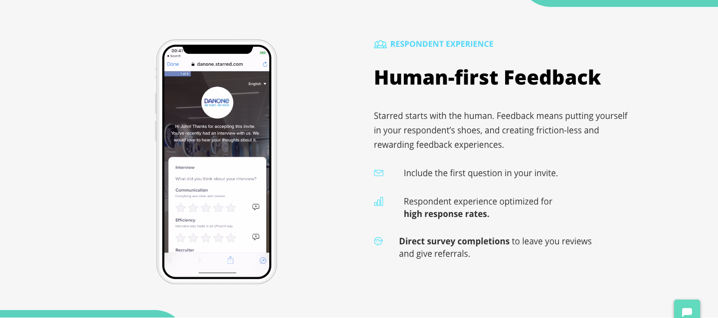 Starred is a respondent-friendly feedback solution.