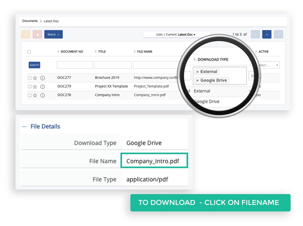 Store all information in cloud, can even attach Google drive or One Drive with Second CRM for having common storage for your documents and easy reference in the future.