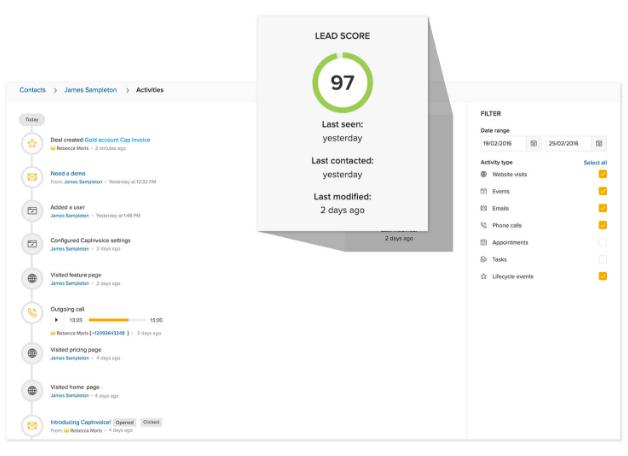 Freshworks CRM Software - Freshworks CRM Lead Score