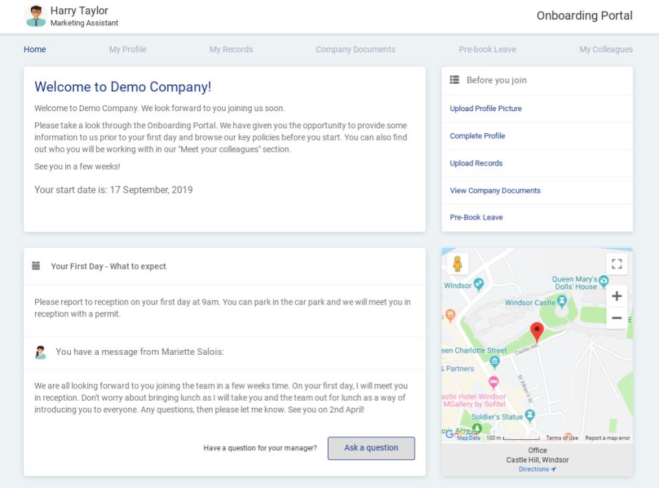 Appogee HR Software - Onboarding Portal