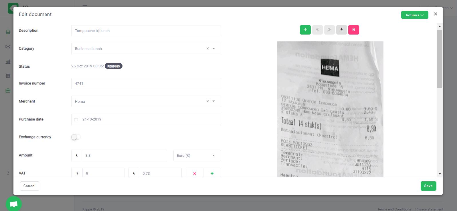 Klippa Software - Klippa edit documents