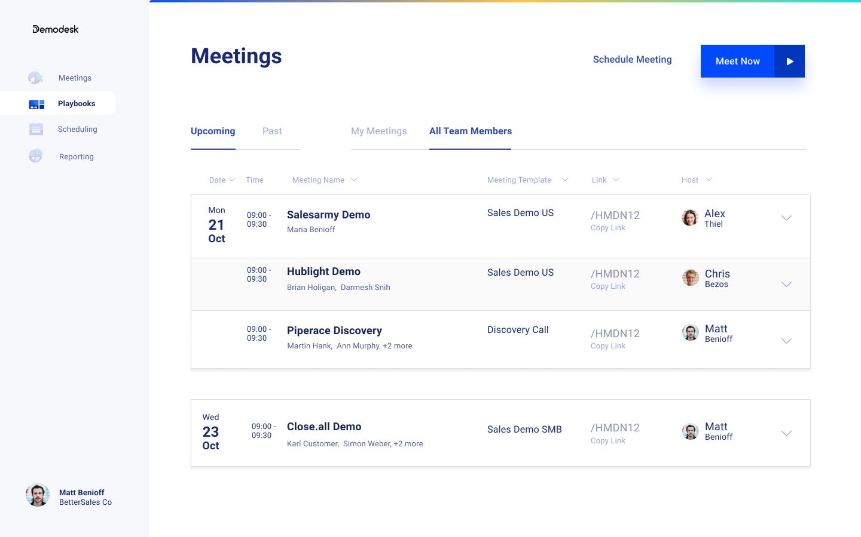 DemoDesk Meetings