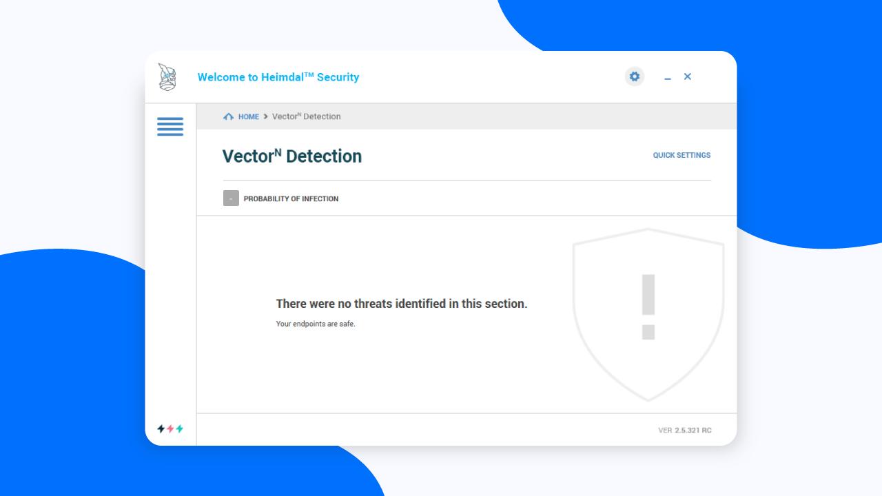 Heimdal VectorN Detection Dashboard