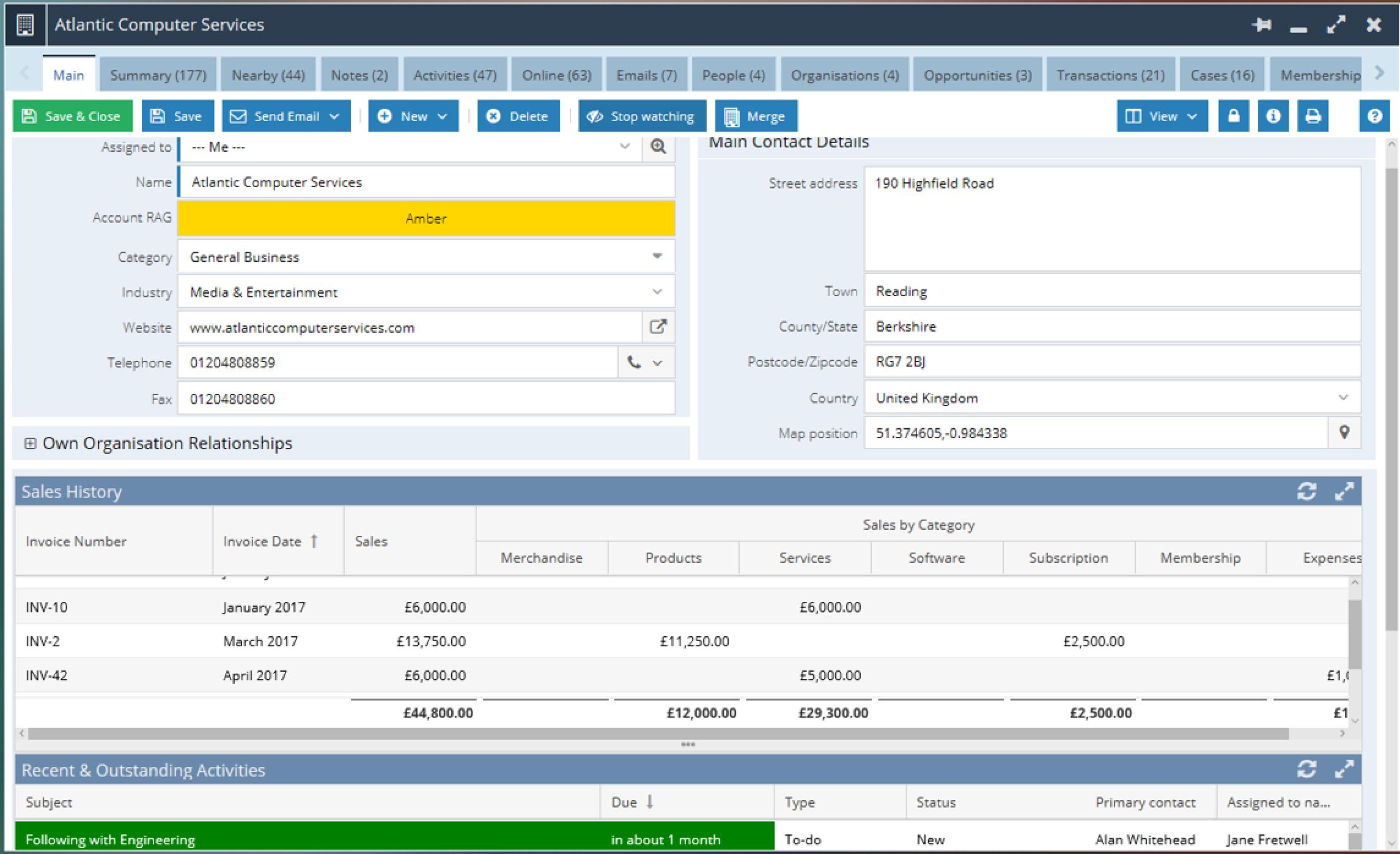 Workbooks Software - Workbooks account management