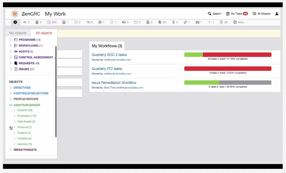 View select workflows only