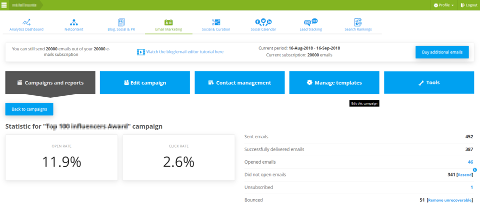 SeoSamba Email Marketing Software - 3
