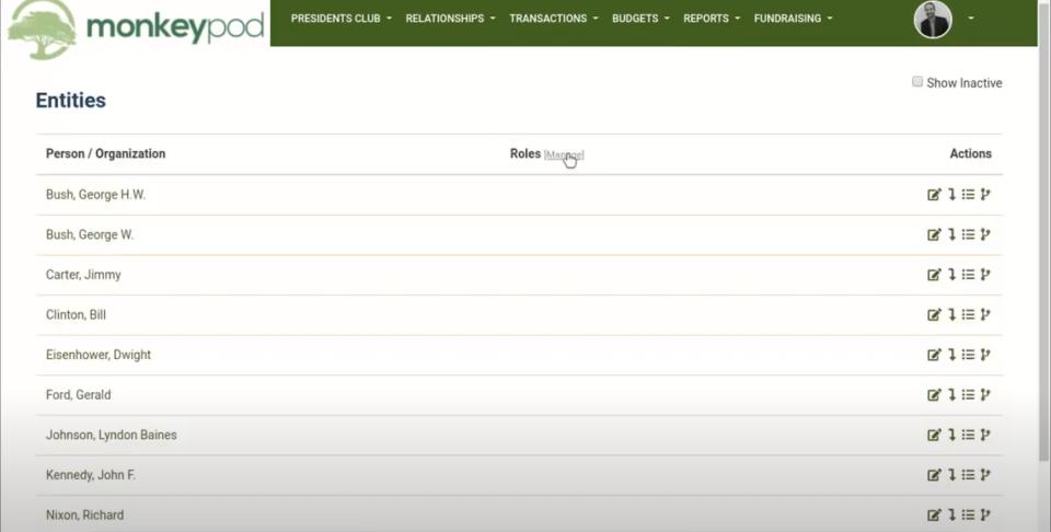 MonkeyPod entities in CRM module