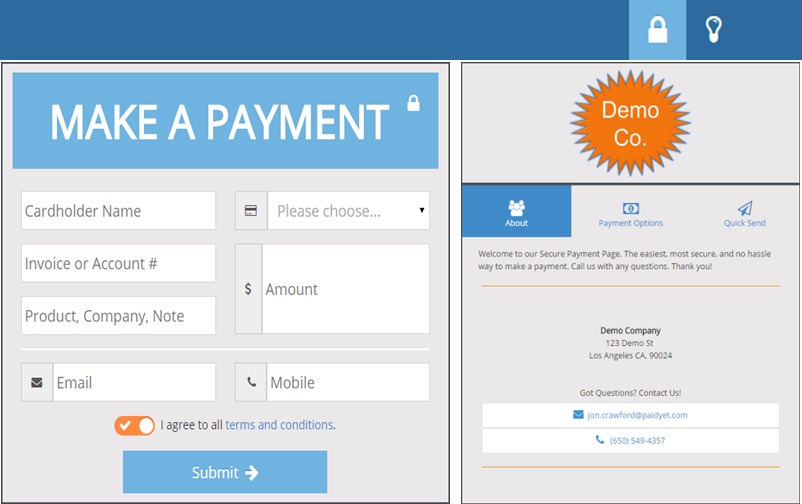 PaidYET payment page screenshot