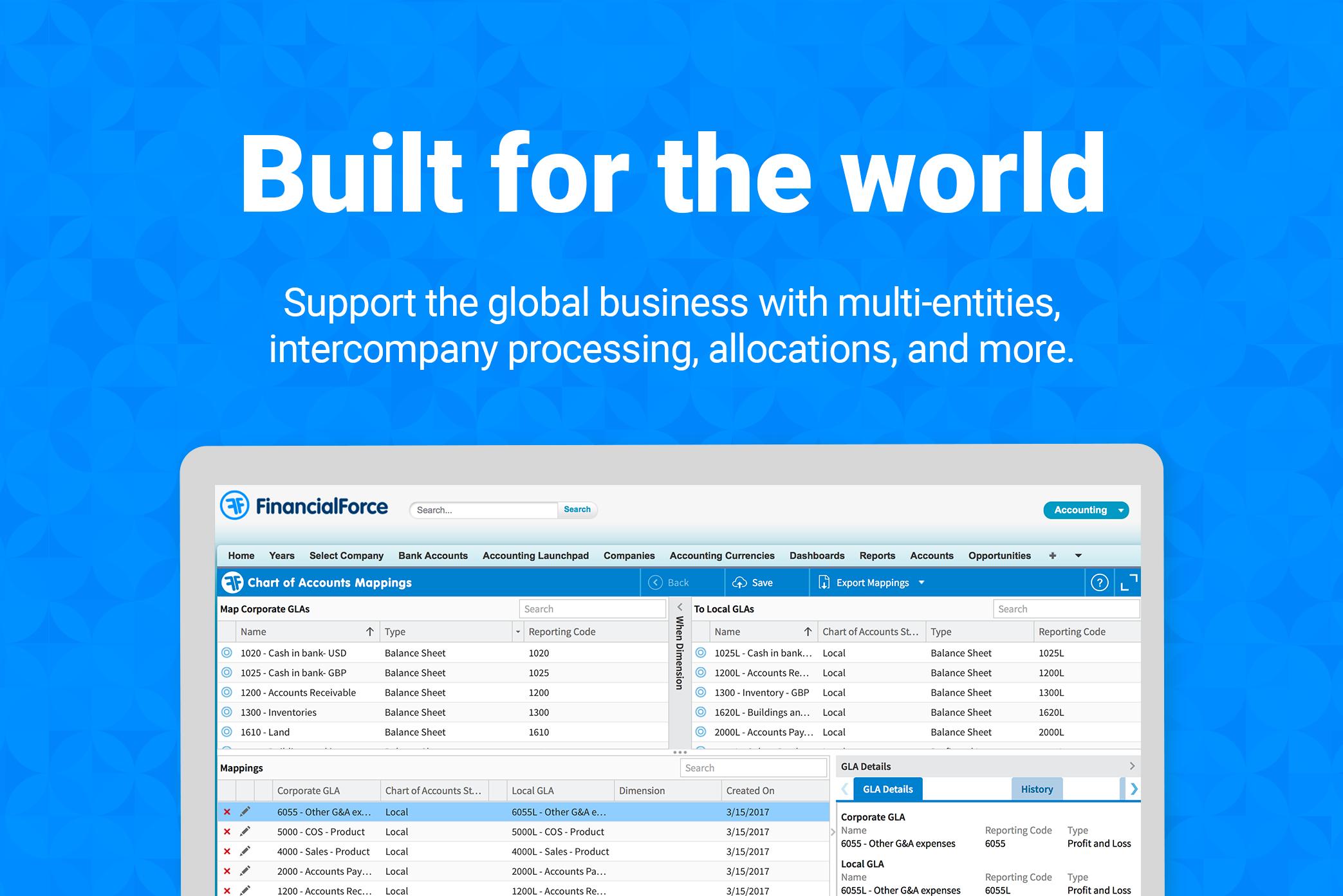 Global accounting