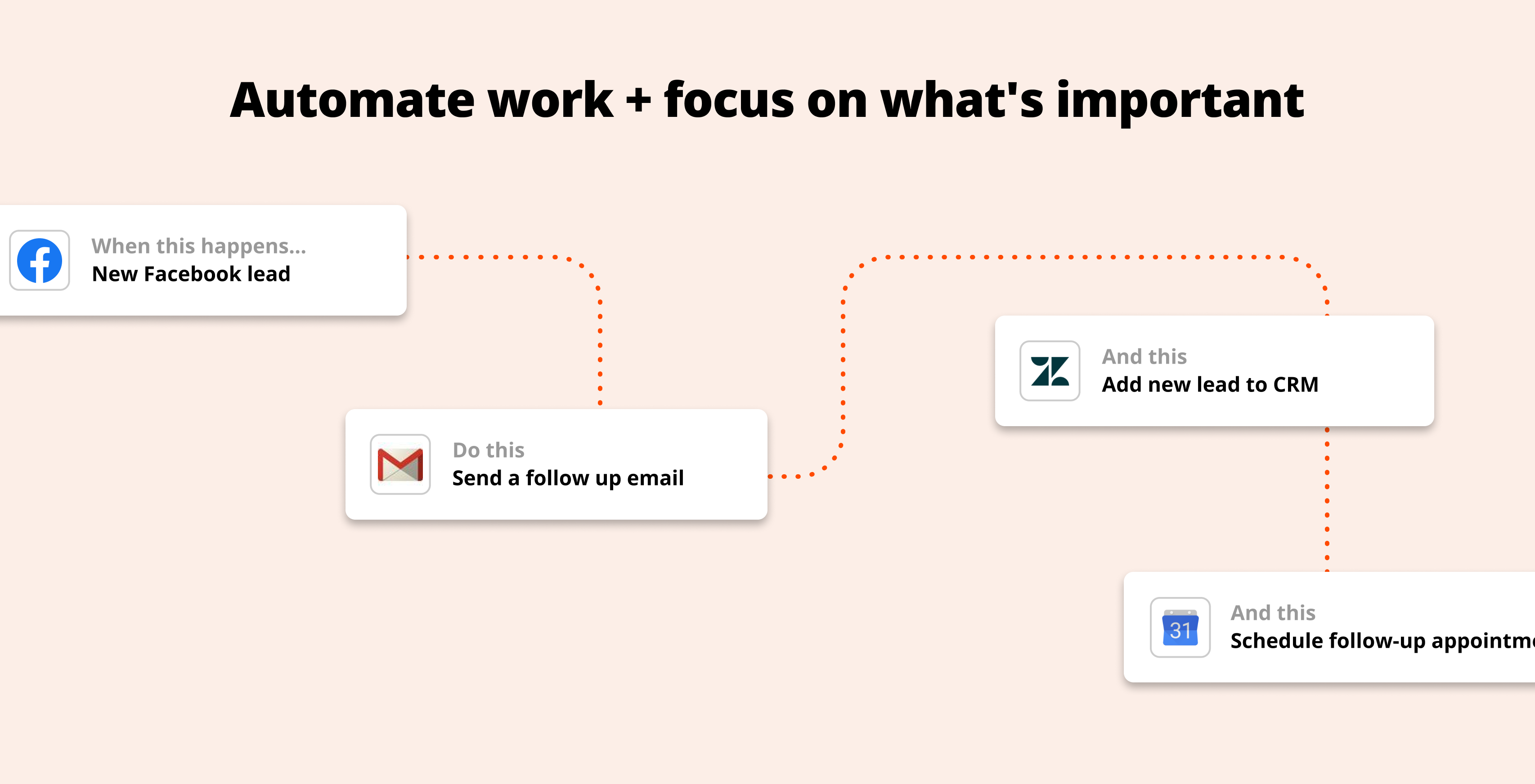 Automate your work and save time to focus on what's important