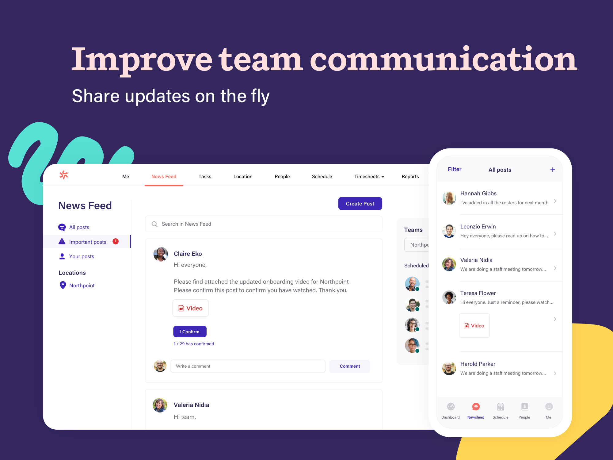 Give your staff the best way to stay informed, share important messages, and contribute to the workplace conversation.