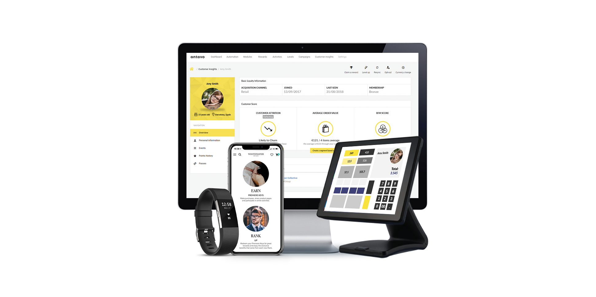 Loyalty programs powered by Antavo are able to incentivise customer behaviour through all channels - online, mobile, in-store and even in the daily life of customers - when they are working out, talking with friends or wearing your products.