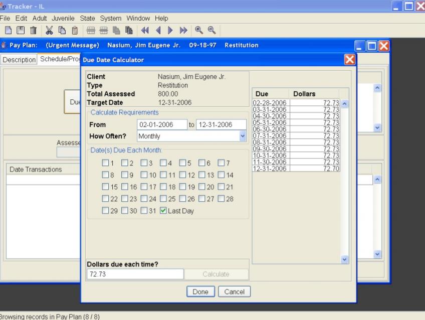 Tracker due date calculator