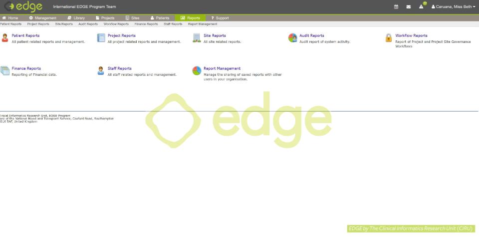 EDGE reports