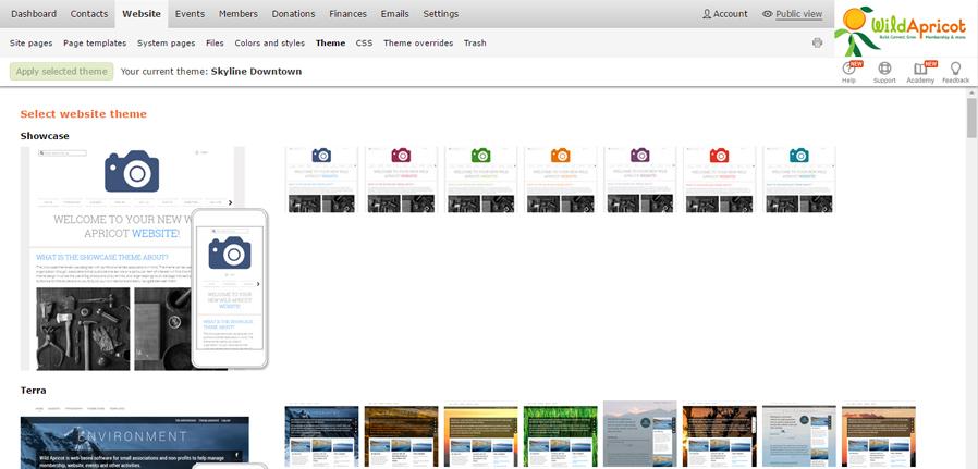 WA Themes Screenshot