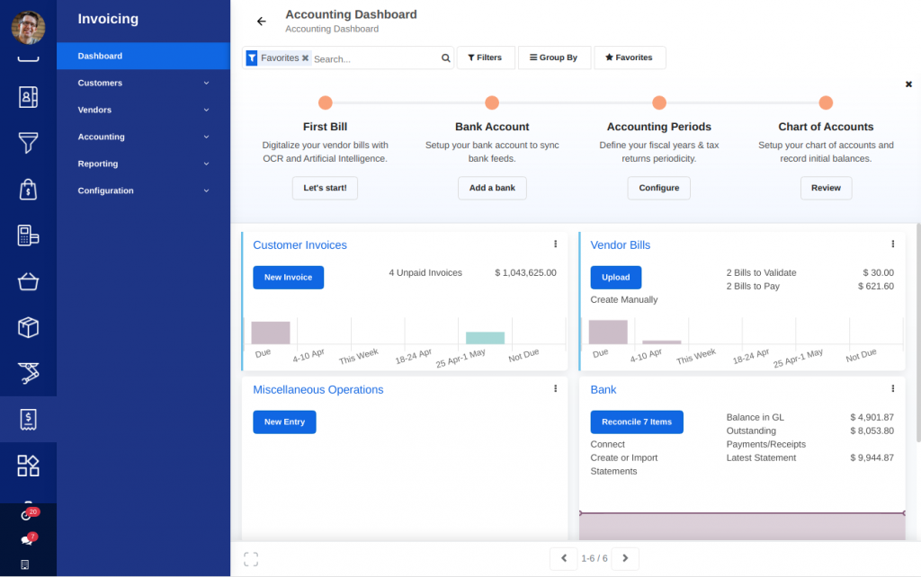 AccelGrid Software - Invoicing Dashboard
