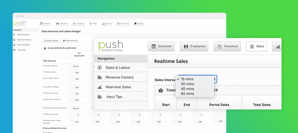 Push Operations reports