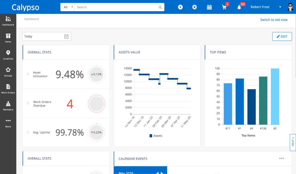 EZOfficeInventory Software - Dashboard