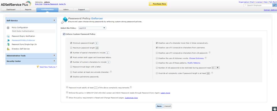 ManageEngine ADSelfService Plus Logiciel - 5