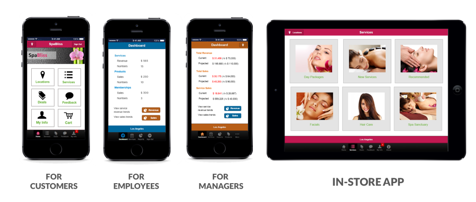 Create different access portals for customers, employees and managers