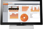 Capture d'écran pour KORONA : KORONA's backend database features detailed sales reports, product analysis, KPIs, inventory management, and other metrics. Everything is calculated automatically with graphs and charts to help break down the data.