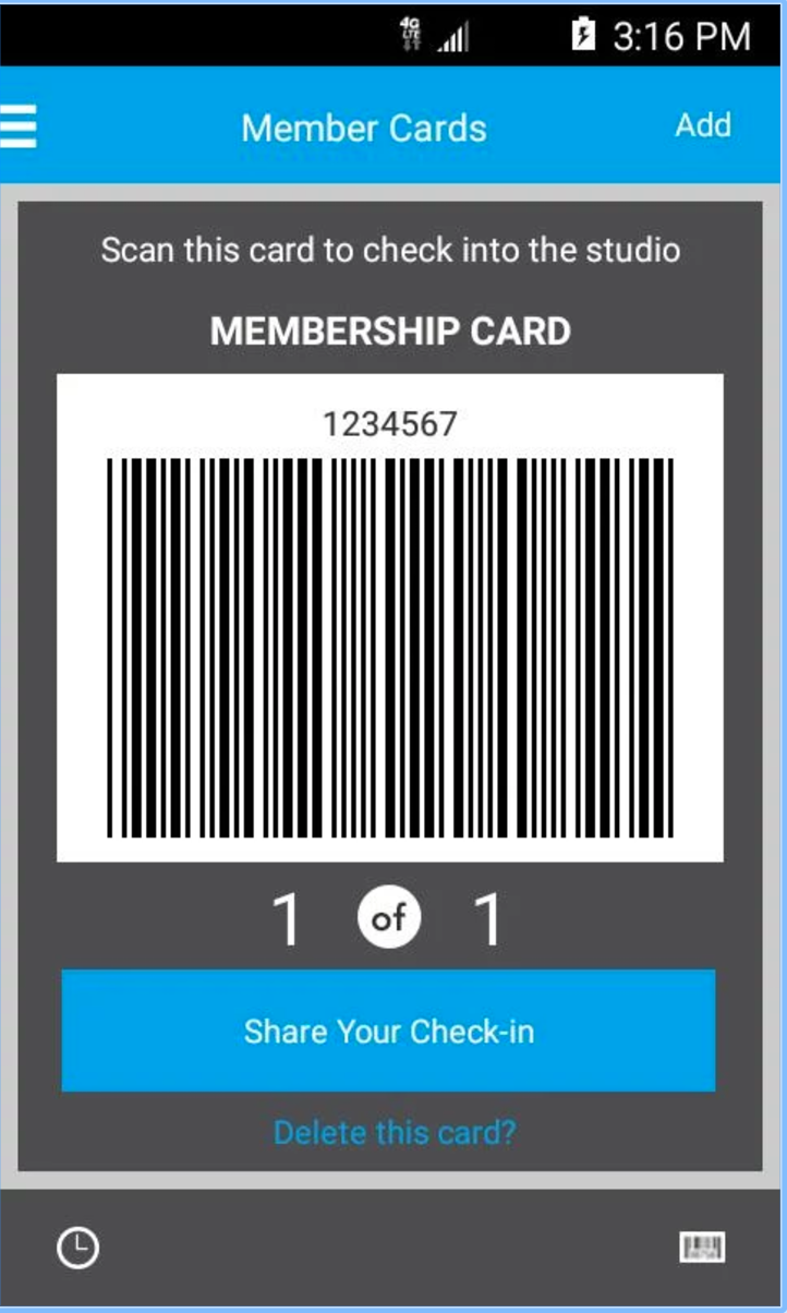 Scan membership cards to check-in
