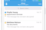 Hushmail screenshot: Hushmail iOS application
