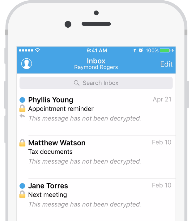 Hushmail iOS application