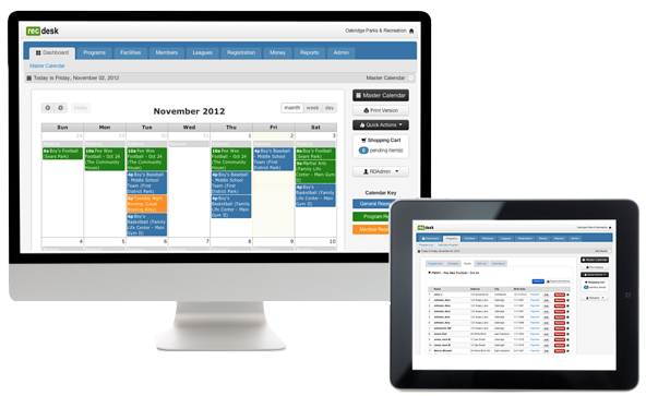 RecDesk can be accessed through any device