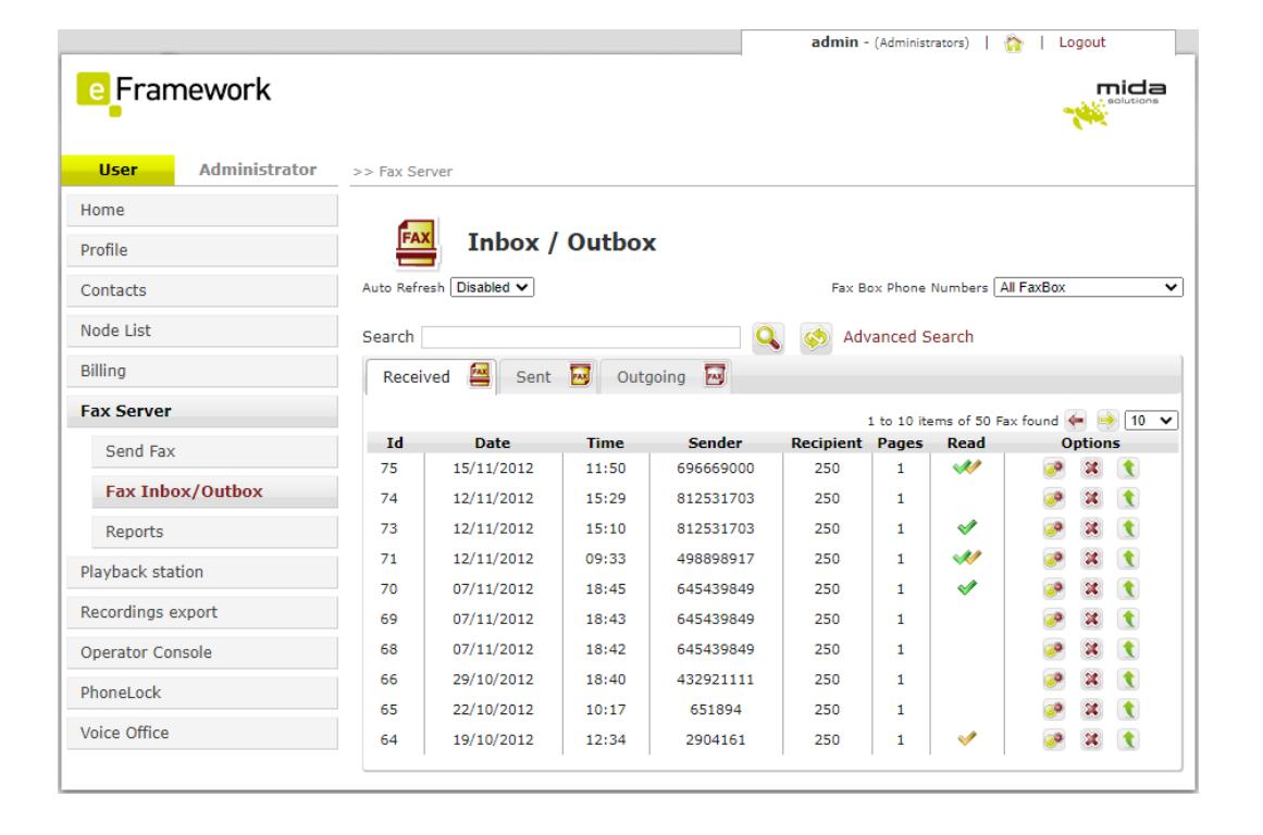 Mida FAX Server Logiciel - 1