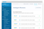 Demandforce screenshot: Control exactly where your reviews are sent. Choose from top review sites like Google, Yelp, Facebook, WebMD and more.