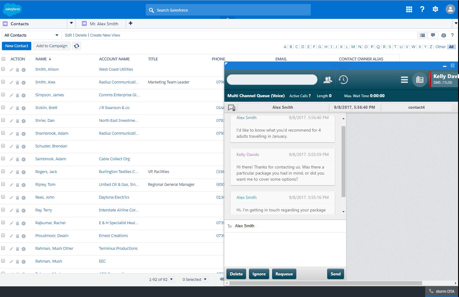 storm Software - Salesforce Integration