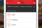 RedTeam screenshot: Track project progress with daily reports