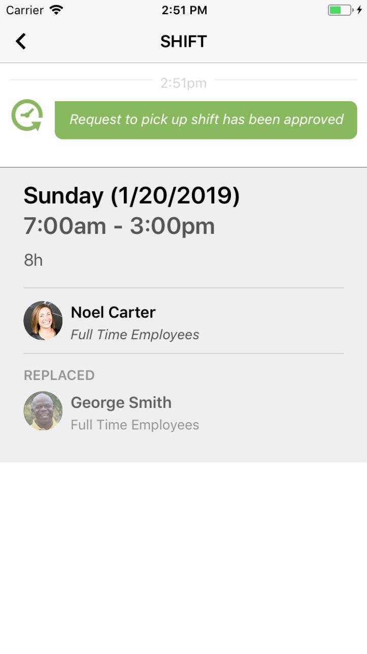 Shift management and delegation