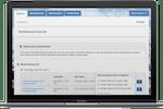 Amilia screenshot: Amilia dashboard register tab shown on MacBook