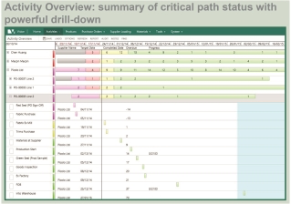 View daily summary of critical path in Fast React Vision