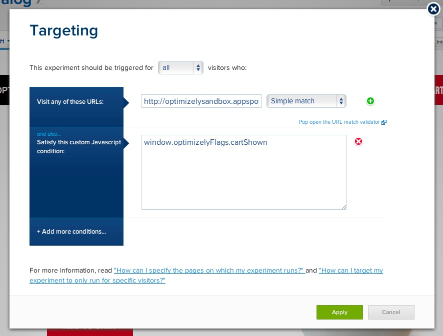 Target specific user segments when running experiments