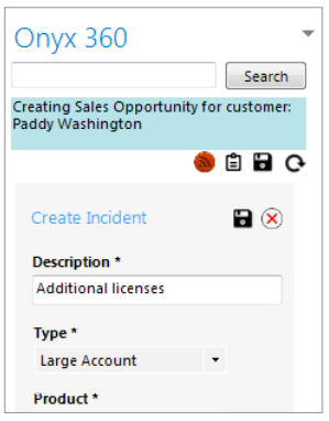 ONYX CRM Software - Sales opportunities