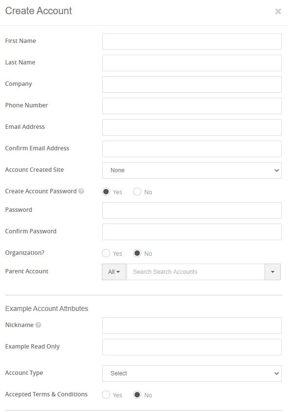 Slatwall Commerce create accounts