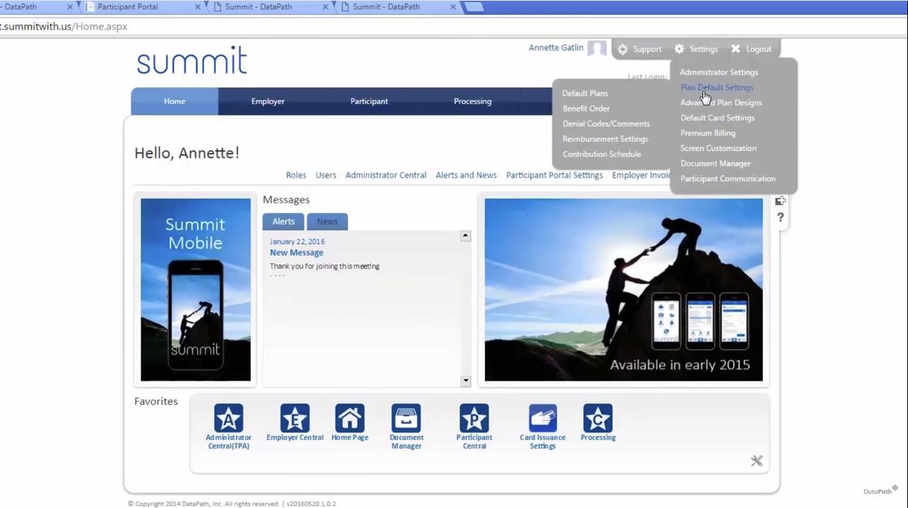 Summit users's homepage