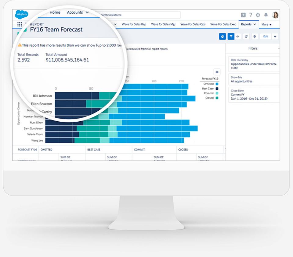 Salesforce team forecasting
