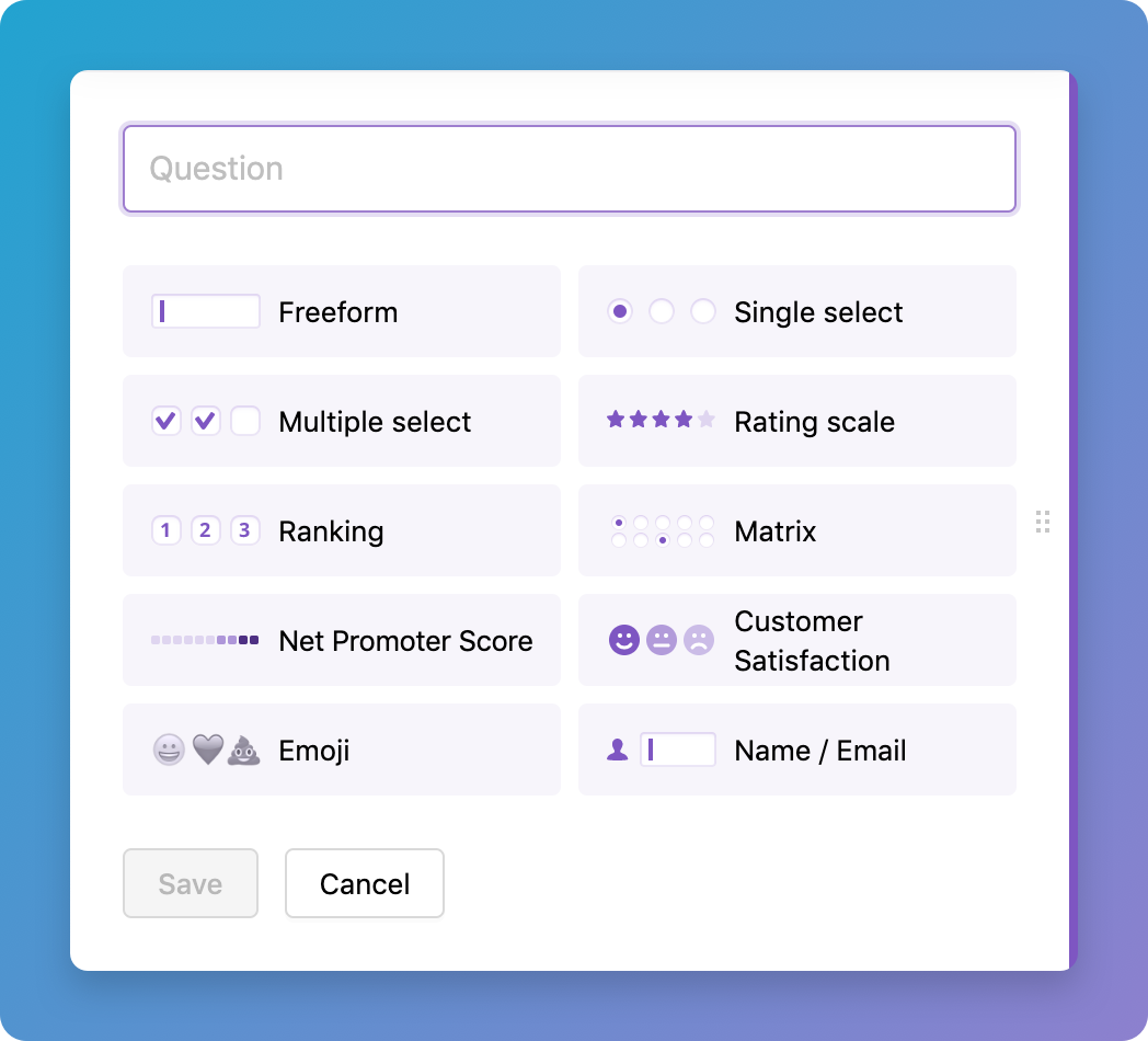 Iterate - build surveys