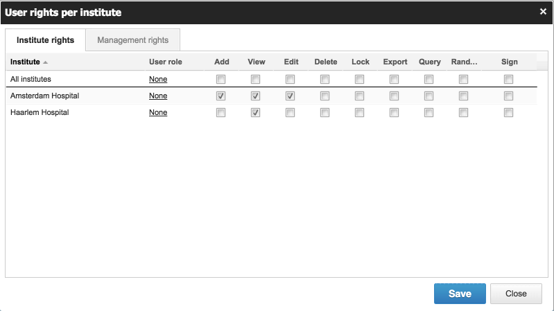 Castor EDC includes role-based access permissions, allowing users to manage who can see or edit data