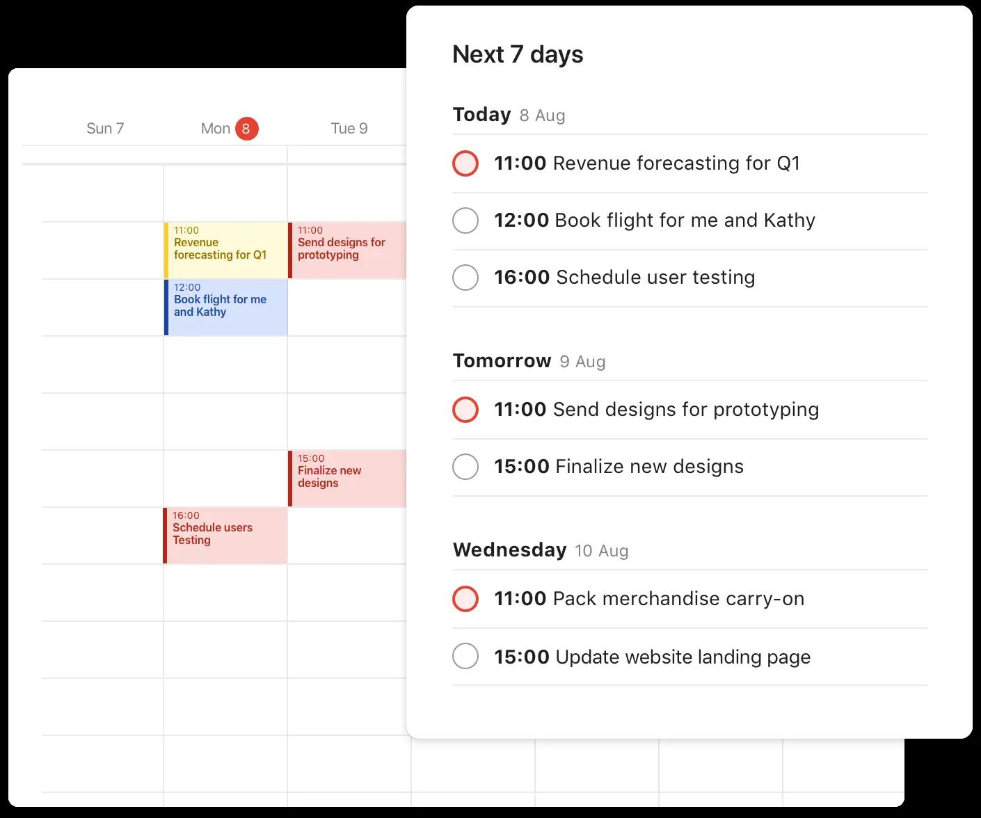 Todoist calendar integration