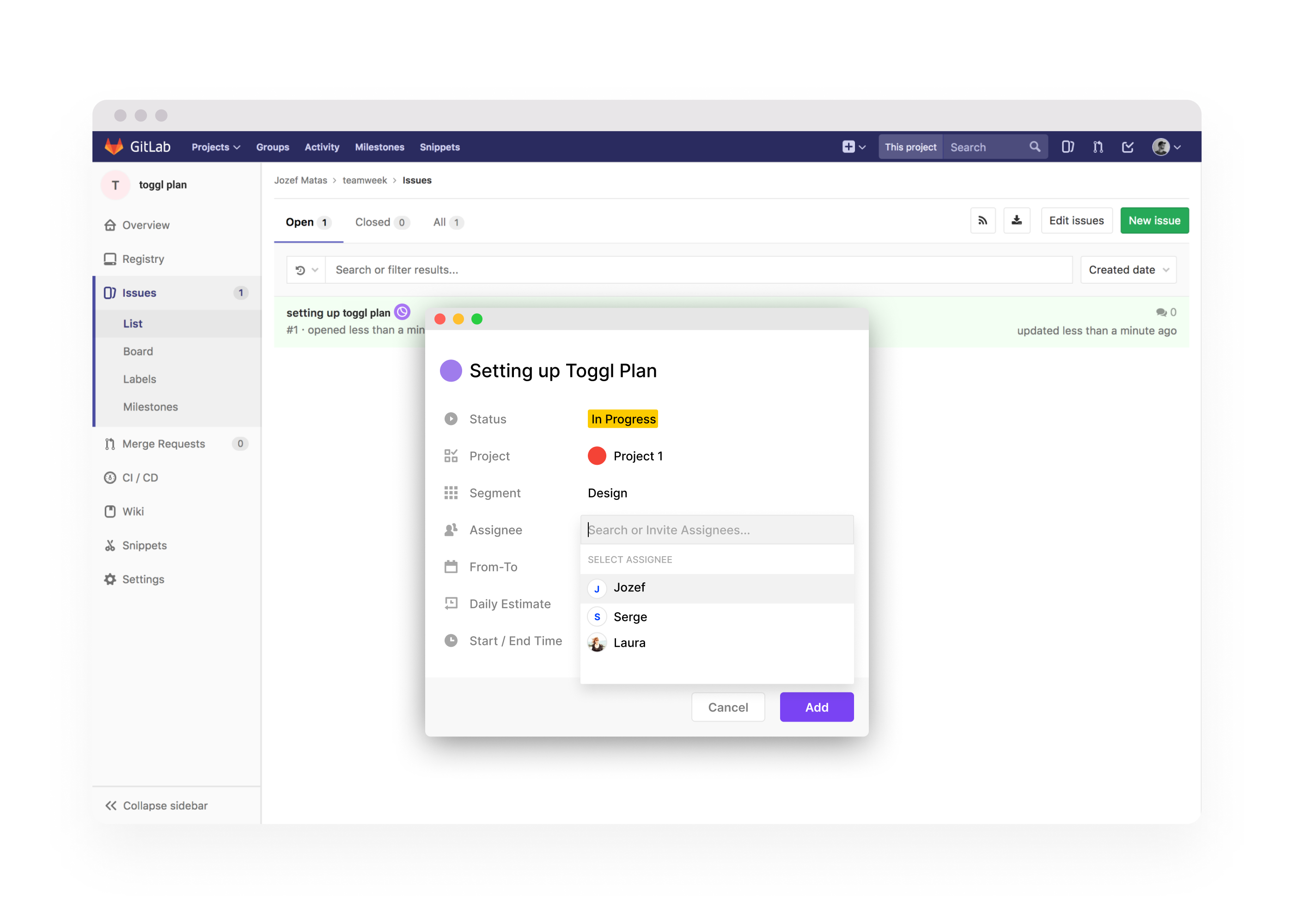 Chrome extension to add tasks to Toggl Plan from any other webapp.